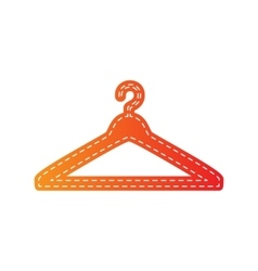 Hanger sign  orange applique isolated vector