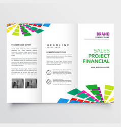 Abstract colorful brochure design template vector
