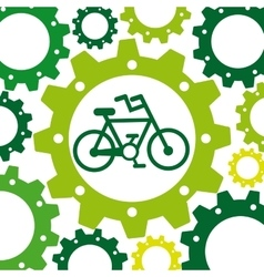 Bicycle ecology infographic icon vector