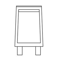 Black board icon vector
