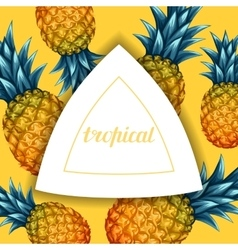 Card with pineapples Tropical abstract frame in vector image vector image