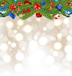Christmas glowing background with holiday vector image