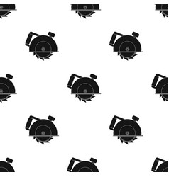 Circular saw icon in black style isolated on white vector