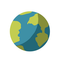 Colorful silhouette of earth globe icon without vector
