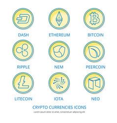 crypto coins 1 vector image