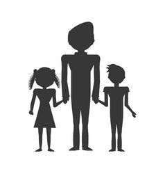 Dad family children vector