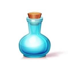 glass flask vector image