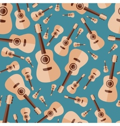 guitar seamless pattern vector image vector image