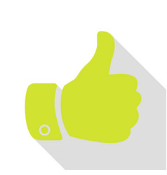 hand sign pear icon with flat style vector image vector image