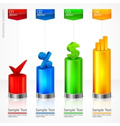 Infographic elements color vector image vector image