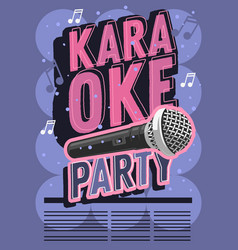 karaoke party music poster design with a vector image vector image