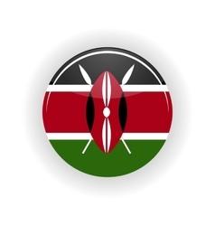 Kenya icon circle vector
