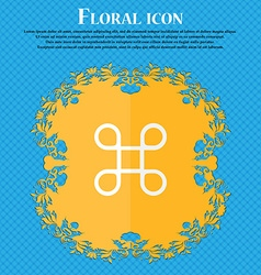 Keyboard maestro icon floral flat design on a blue vector
