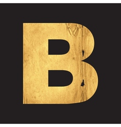 Letter B of the English alphabet vector image vector image