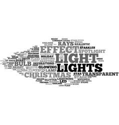 Light word cloud concept vector