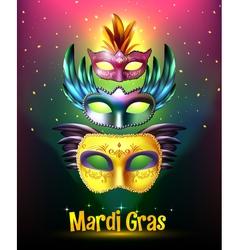 Mardi Gras Carnival Poster vector image vector image