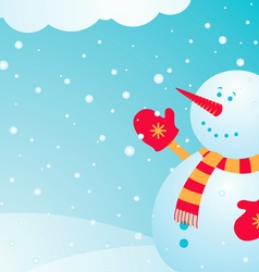 Snowman and snow vector
