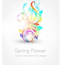 Spring flower background vector