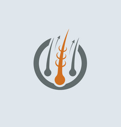 strengthening of hair gray-orange icon vector image vector image