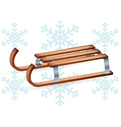 Vintage wooden sled vector