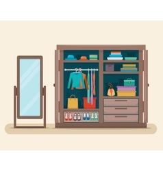 Wardrobe for cloths vector
