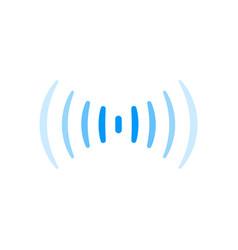 wifi signal connection sound radio wave logo vector image vector image