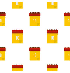 Yellow calendar with 10 date pattern seamless vector