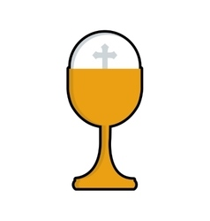 Cup gold religion christianity icon vector