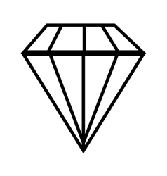 Diamond gem jewelry vector