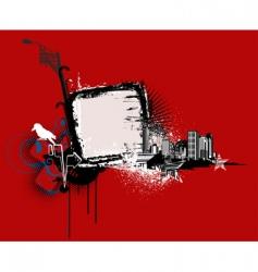 urban frame vector image