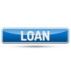 Loan - abstract beautiful button with text vector