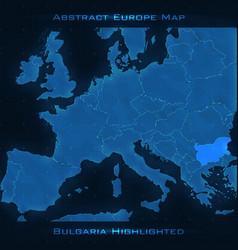 Europe abstract map bulgaria vector