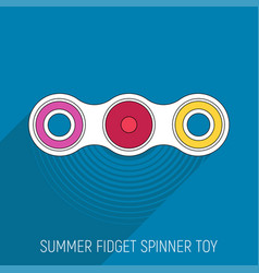 Two blades fidget spinner toy in flat style vector