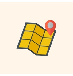 Map travel flat icon vector