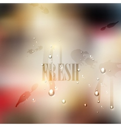 fresh blurred background with water drops and vector image