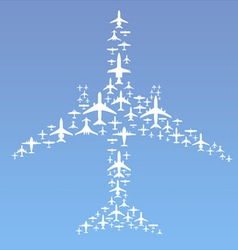airplane formation vector image
