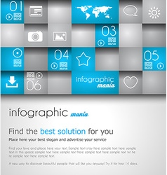Infographic design template ideal to display vector