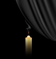 Fireless candle vector
