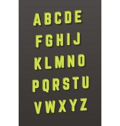 alphabet 3D style font vector image