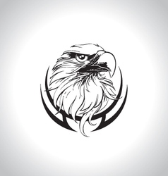 eagle head line art vector image