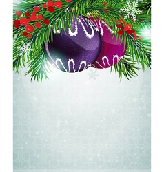 Christmas baubles with holly berry vector