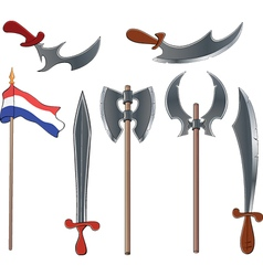 Ancient weapons set vector