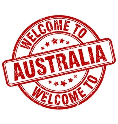 Welcome to australia vector