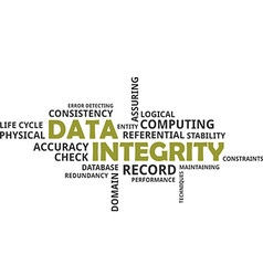Word cloud data integrity vector
