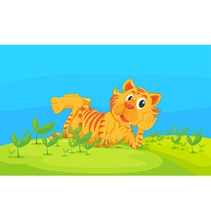 A lying tiger vector image vector image