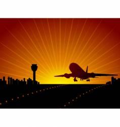 airport landing vector image vector image