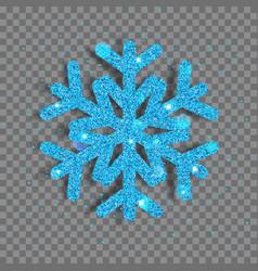 big shiny christmas snowflake vector image