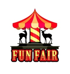 Carousel fun fair vector