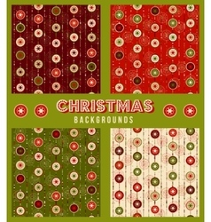 Christmas decorations seamless pattern vector image