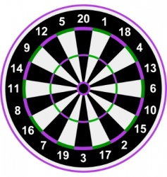 classical darts vector image